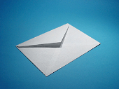 Envelope on blue background_170_127